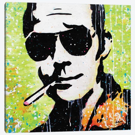 Hunter S. Thompson Canvas Print #BAE19} by MR BABES Canvas Artwork