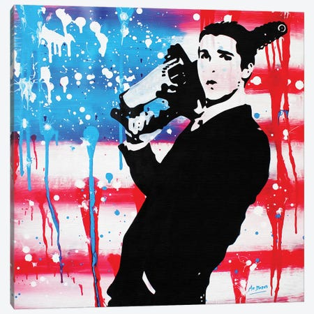 American Psycho: Patrick Bateman Canvas Print #BAE1} by MR BABES Canvas Wall Art