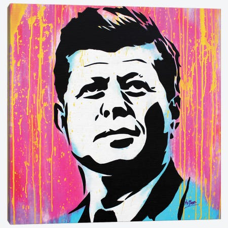 John F. Kennedy Canvas Print #BAE20} by MR BABES Canvas Print