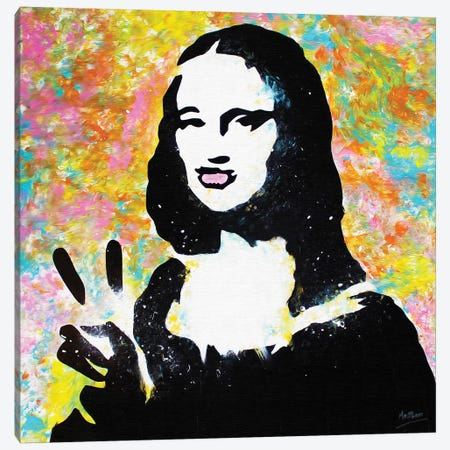 Mona Lisa Duck Lips Canvas Print #BAE22} by MR BABES Canvas Print