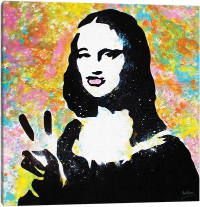 Mona Lisa Duck Lips Canvas Art Print