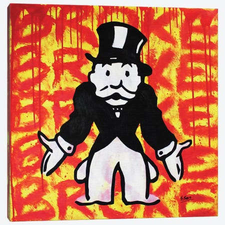 Mr. Monopoly (Broke) Canvas Print #BAE23} by MR BABES Canvas Print