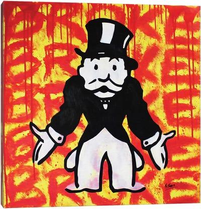 Mr. Monopoly (Broke) Canvas Art Print