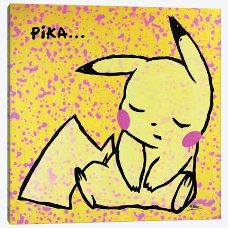 Pokemon: Pikachu Canvas Print #BAE26} by MR BABES Canvas Artwork