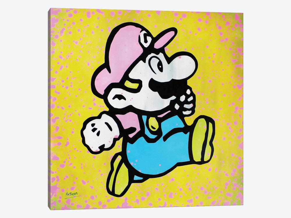 Super Mario by MR BABES 1-piece Canvas Wall Art