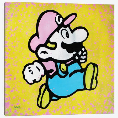 Super Mario Canvas Print #BAE28} by MR BABES Canvas Print