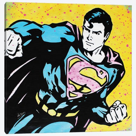 Superman Canvas Print #BAE29} by MR BABES Canvas Art Print