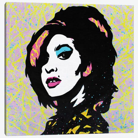 Amy Winehouse Canvas Print #BAE2} by MR BABES Canvas Artwork