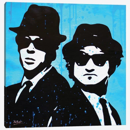 The Blues Brothers Canvas Print #BAE30} by MR BABES Canvas Artwork