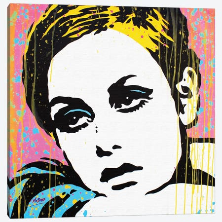 Twiggy Canvas Print #BAE33} by MR BABES Canvas Art