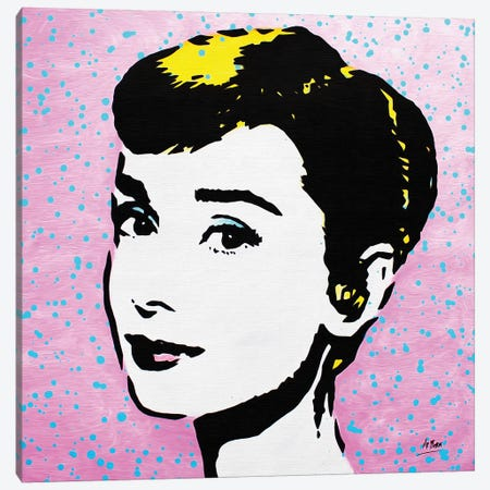 Audrey Hepburn Canvas Print #BAE3} by MR BABES Canvas Art