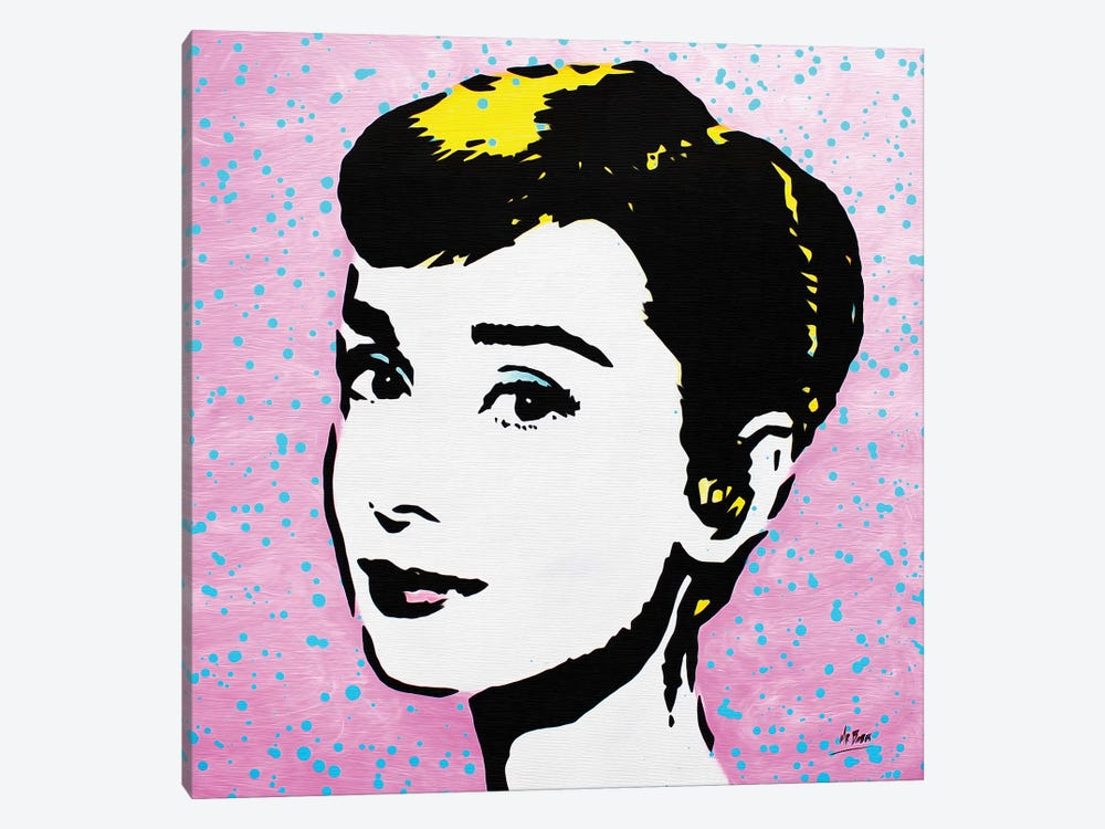 Audrey Hepburn by MR BABES 1-piece Canvas Wall Art