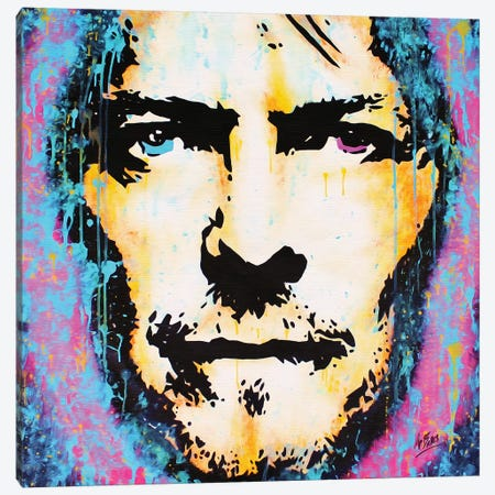 David Bowie: Legend Canvas Print #BAE9} by MR BABES Canvas Art