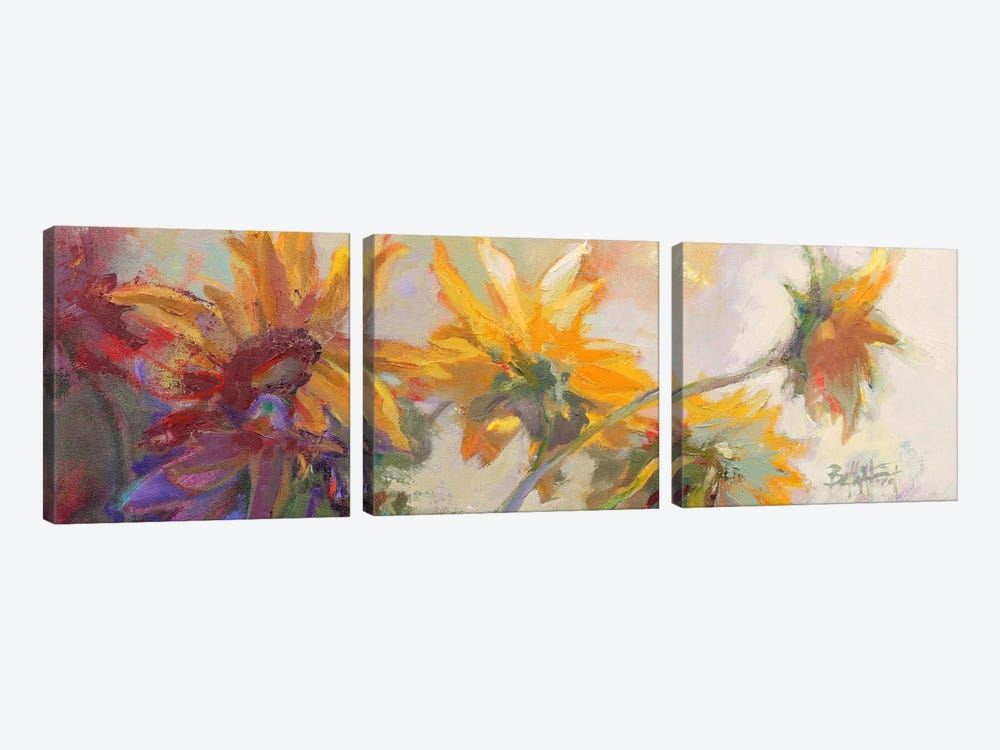 Three Long Blossoms by Beth A. Forst 3-piece Canvas Artwork