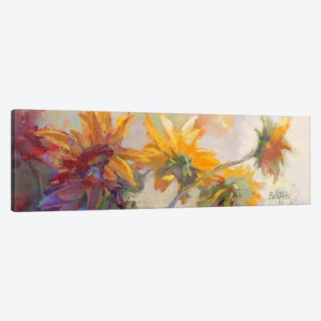 Three Long Blossoms 3-Piece Canvas #BAF6} by Beth A. Forst Canvas Wall Art