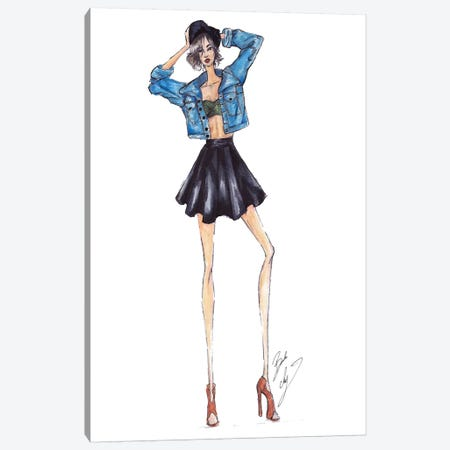 Jean Jacket Canvas Print #BAH13} by Brooke Ashley Canvas Print