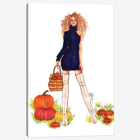 Pumpkin Patch Canvas Print #BAH21} by Brooke Ashley Canvas Wall Art