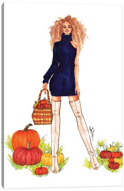 Pumpkin Patch Canvas Art Print