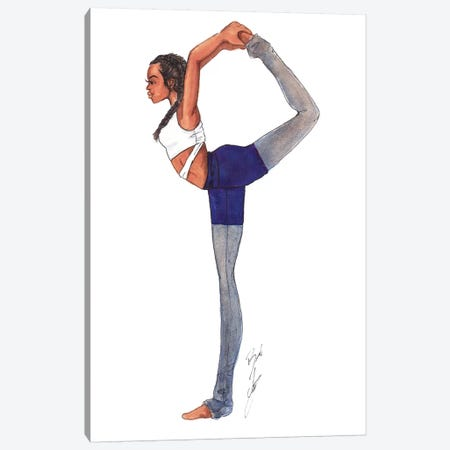 Yoga Girl Canvas Print #BAH36} by Brooke Ashley Canvas Wall Art