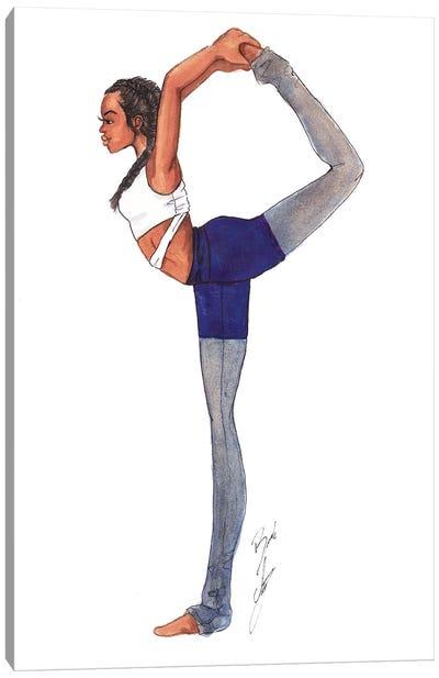 Yoga Girl Canvas Art Print