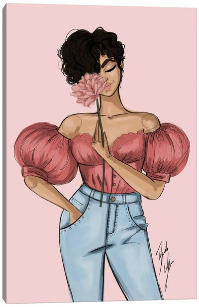 Sweet Carnations Canvas Art Print