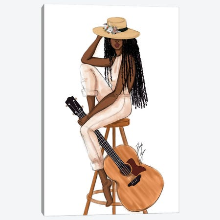 The Musician Canvas Print #BAH54} by Brooke Ashley Canvas Wall Art