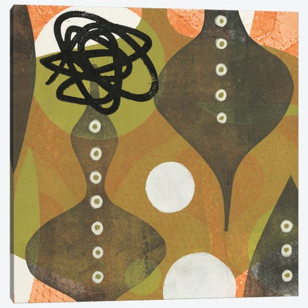 Buttoned Up Canvas Print #BAL4} by Beth Adler Canvas Artwork