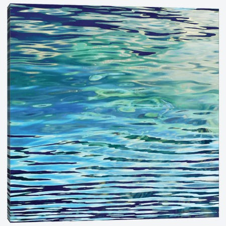Aqua Reflections Canvas Print #BAR1} by Michael Barrett Canvas Wall Art