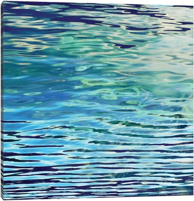 Aqua Reflections Canvas Art Print
