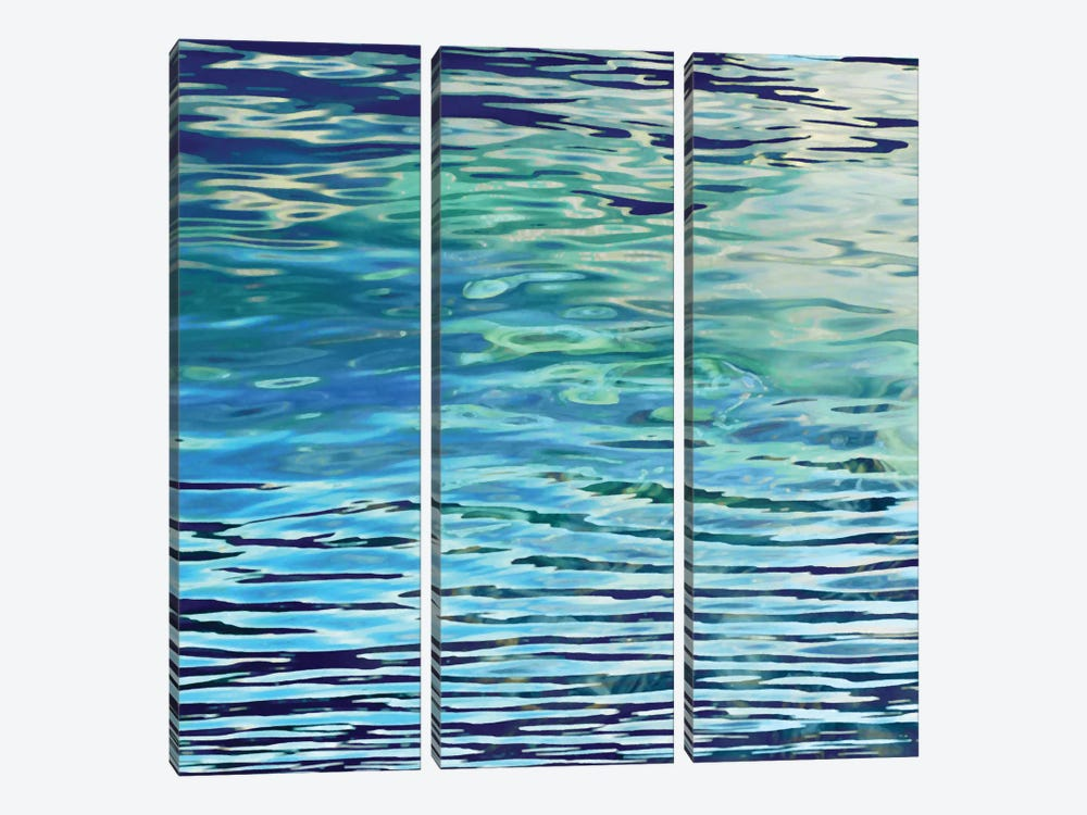 Aqua Reflections by Michael Barrett 3-piece Canvas Art Print