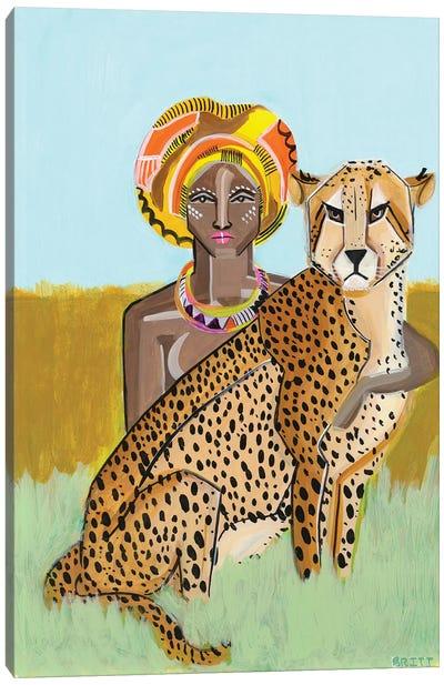 Cheeta Lover Canvas Art Print