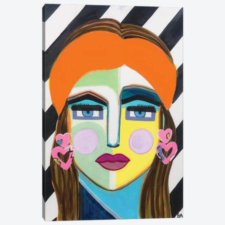 My 80's Lady Canvas Print #BAT1} by Britt Atkinson Canvas Artwork