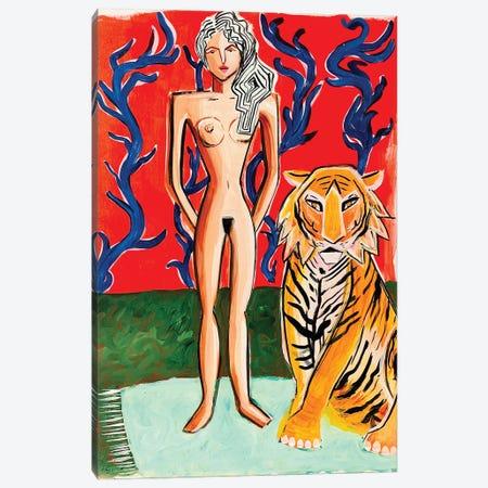 Lady Near Red Canvas Print #BAT24} by Britt Atkinson Art Print
