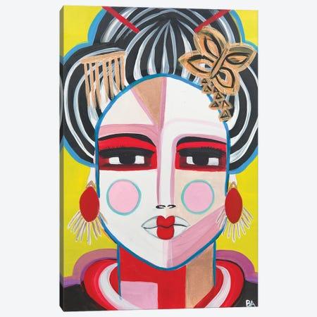 Geisha 3-Piece Canvas #BAT2} by Britt Atkinson Canvas Artwork