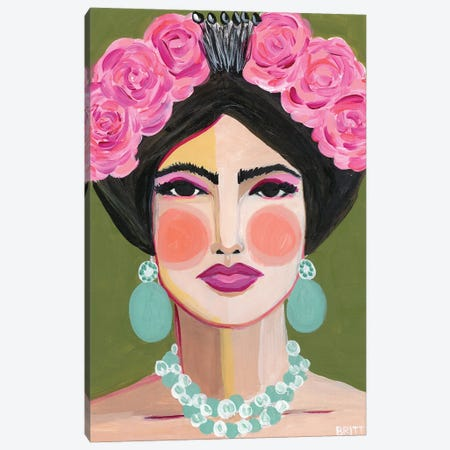 Frida Canvas Print #BAT8} by Britt Atkinson Canvas Artwork