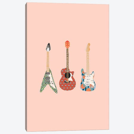 Guitars Canvas Print #BAU10} by The Beau Studio Canvas Wall Art