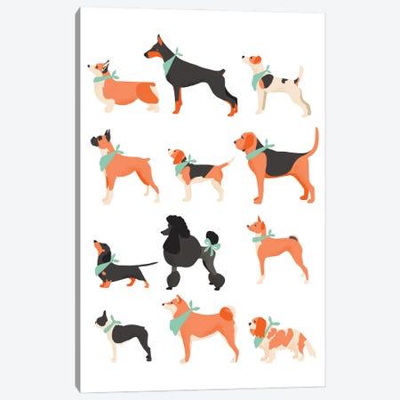 Dog Chart Canvas Print #BAU14} by The Beau Studio Canvas Print