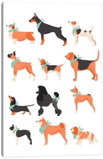 Dog Chart Canvas Art Print