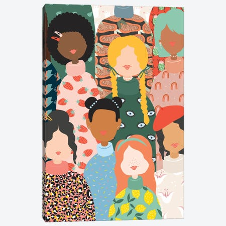 Band Of Women Canvas Print #BAU1} by The Beau Studio Art Print