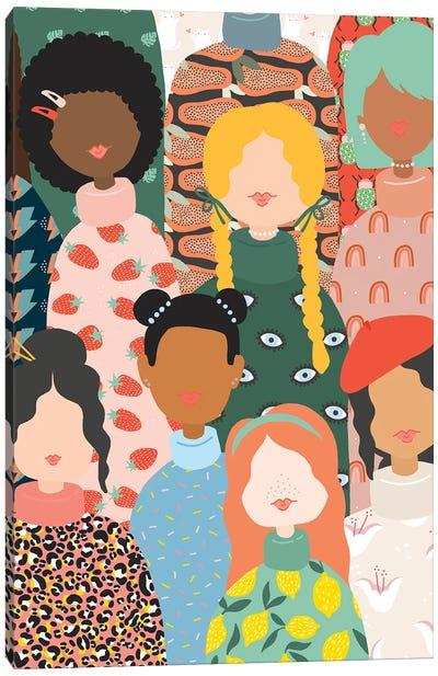 Band Of Women Canvas Art Print