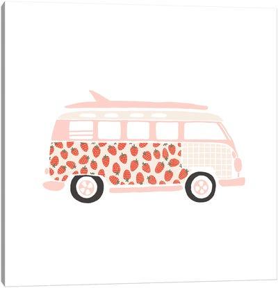 Strawberry Van Canvas Art Print