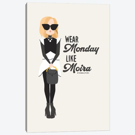 Wear Monday Like Moira Canvas Print #BAU30} by The Beau Studio Canvas Artwork