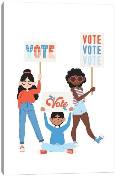 Vote, Vote, Vote Canvas Art Print