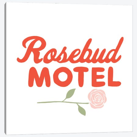 Rosebud Motel Canvas Print #BAU37} by The Beau Studio Art Print