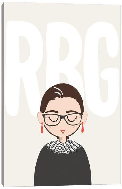 Rbg Portrait Canvas Art Print