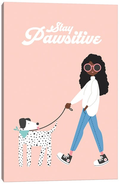 Stay Pawsitive Canvas Art Print
