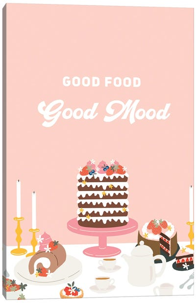 Good Food, Good Mood Canvas Art Print