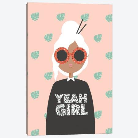 Yeah Girl Canvas Print #BAU4} by The Beau Studio Canvas Wall Art