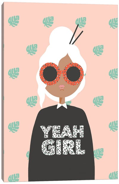 Yeah Girl Canvas Art Print