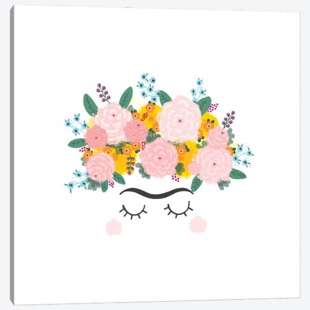 Frida Flowers Canvas Print #BAU60} by The Beau Studio Canvas Print